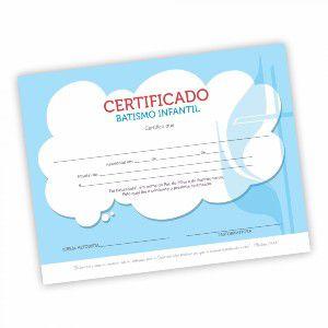 Certificado Batismo Infantil - pacote (50 unidade)