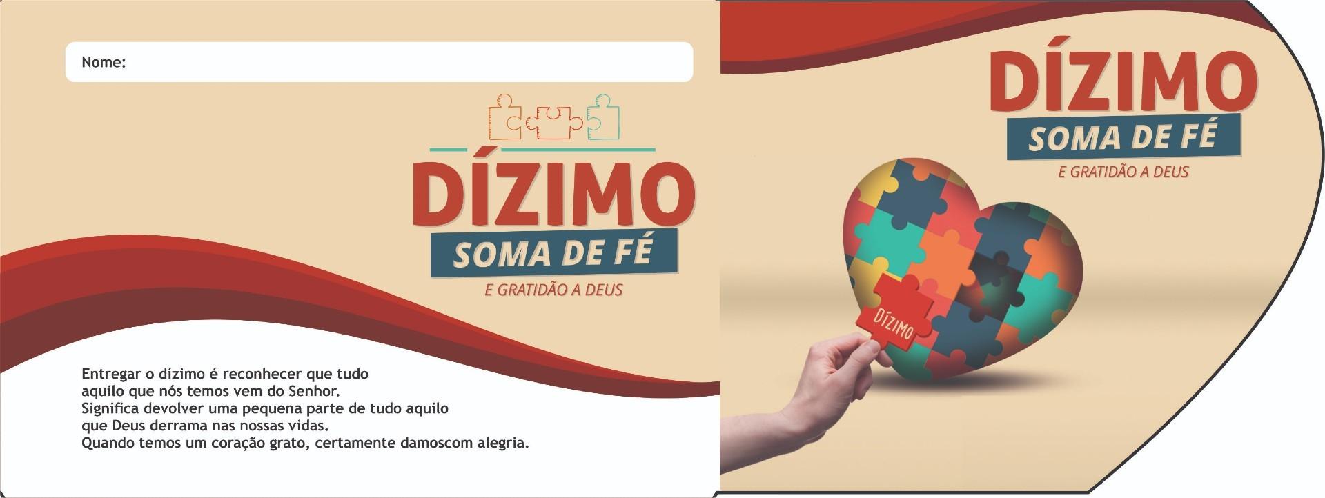 ENVELOPE ESPECIAL DIZIMO - SOMA DE FÉ E GRATIDÃO A DEUS