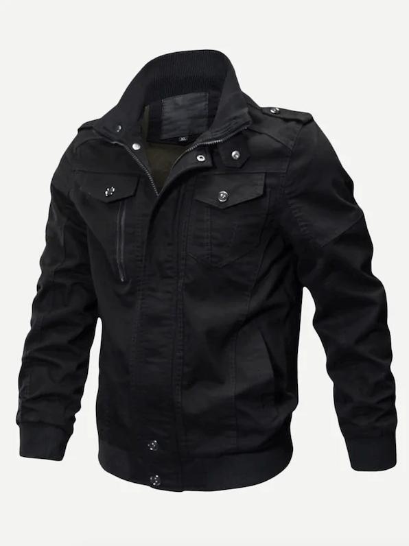 Jaqueta masculina com zíper