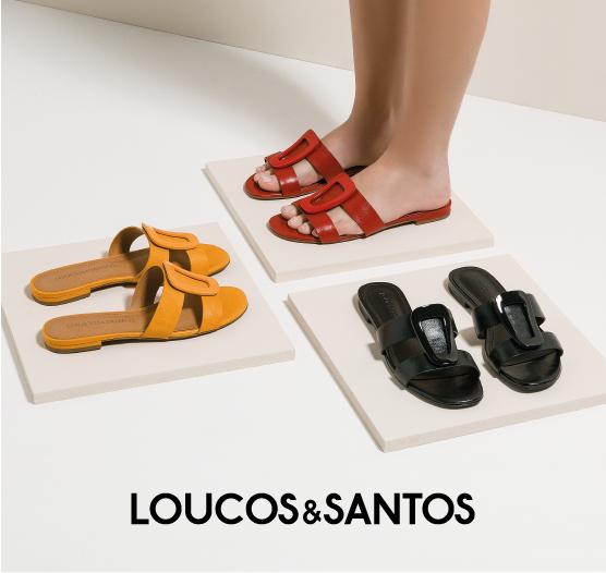 Coleção de Chinelas Loucos & Santos