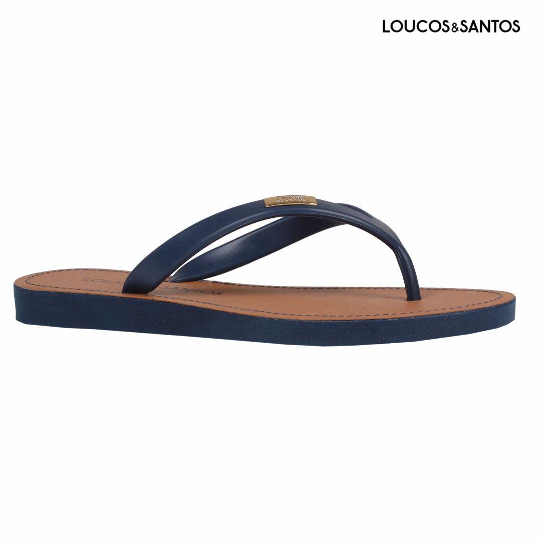 Chinelo Azul Life Loucos e Santos
