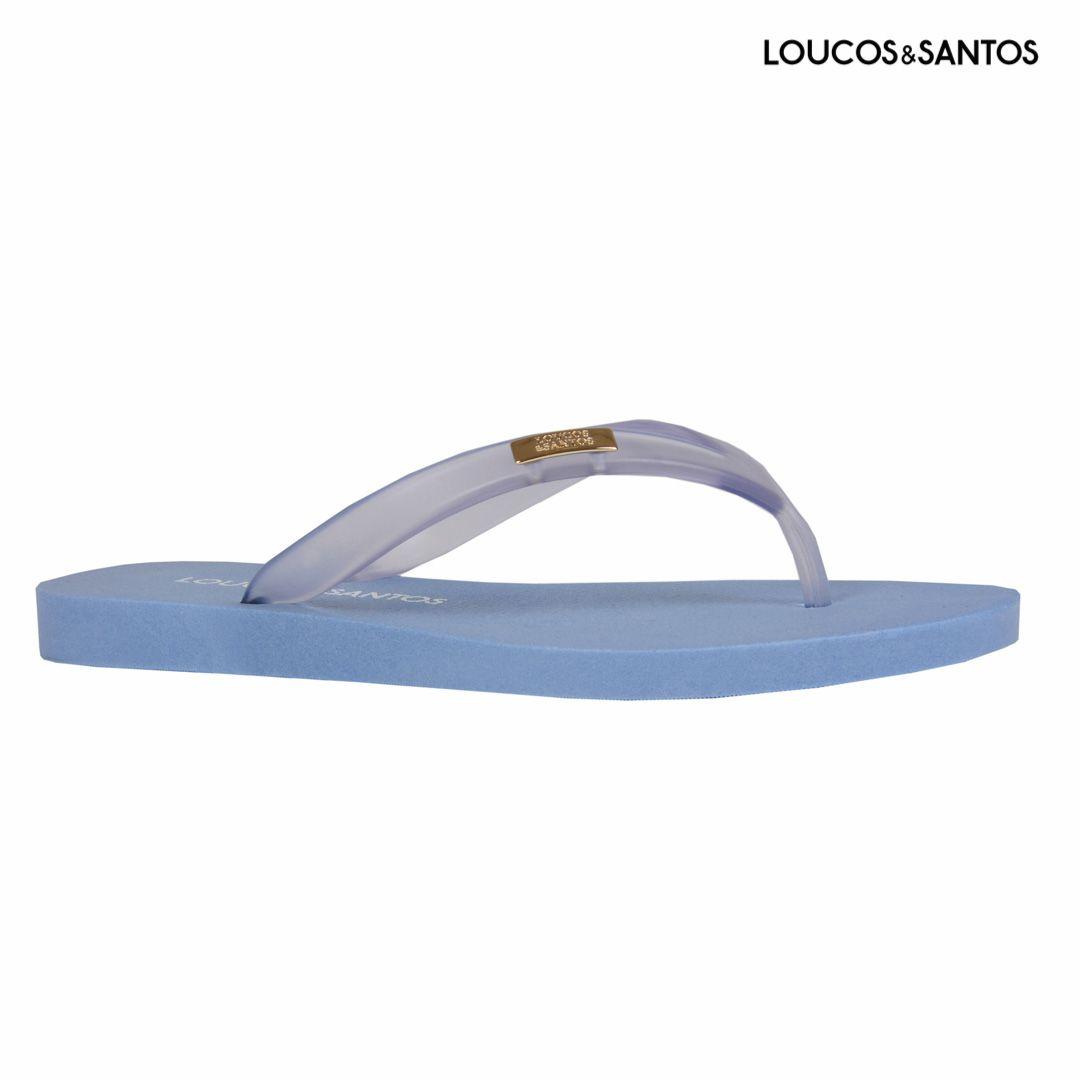 Chinelo Translucido Azul Loucos e Santos