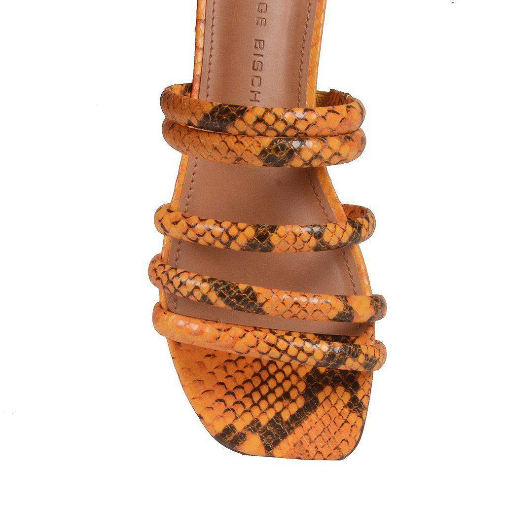 Rasteirinha Snake Amarelo Jorge Bischoff V20