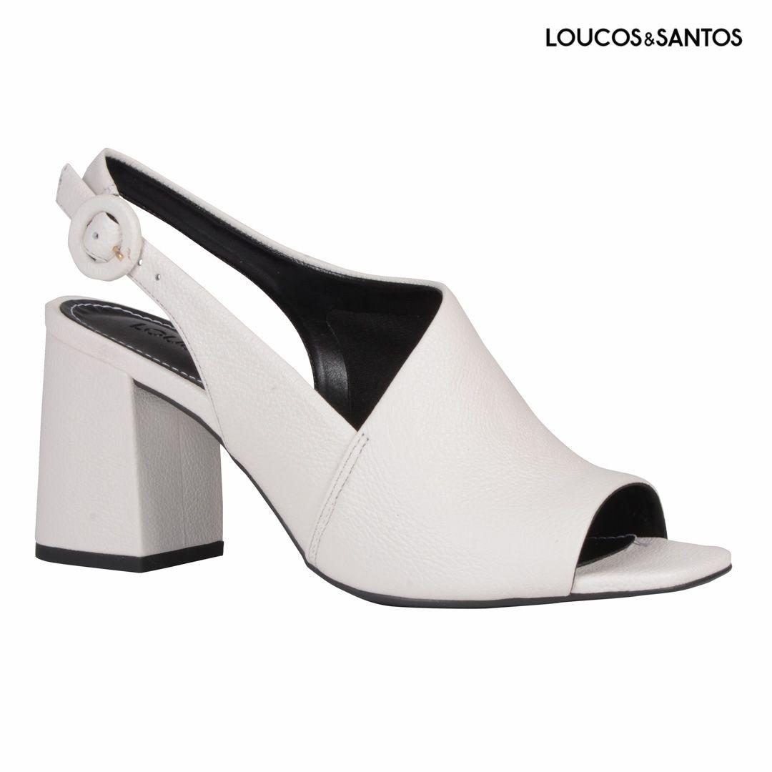 Sandália Branca Loucos e Santos