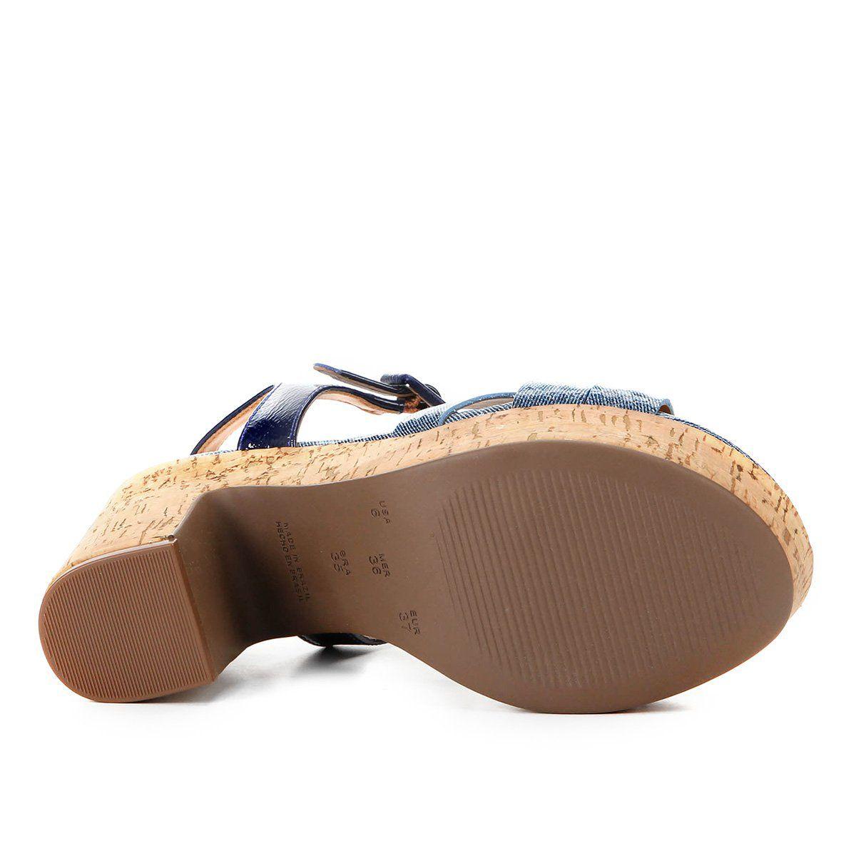Sandália Jeans Náutico Jorge Bischoff V20