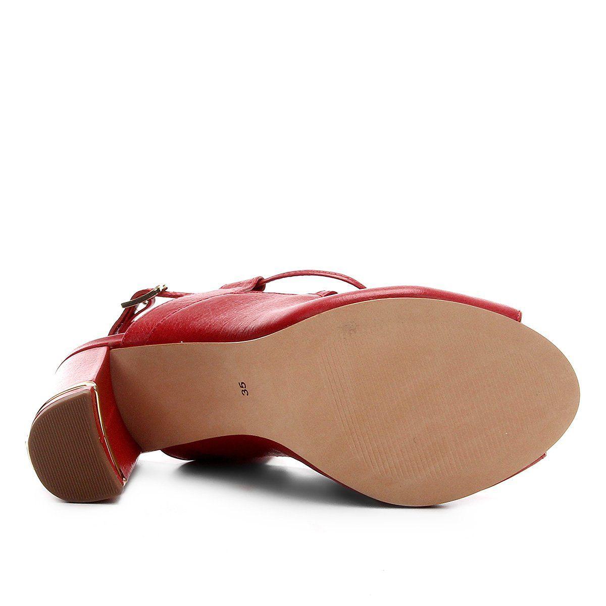 Sandália Napa Red Jorge Bischoff V20