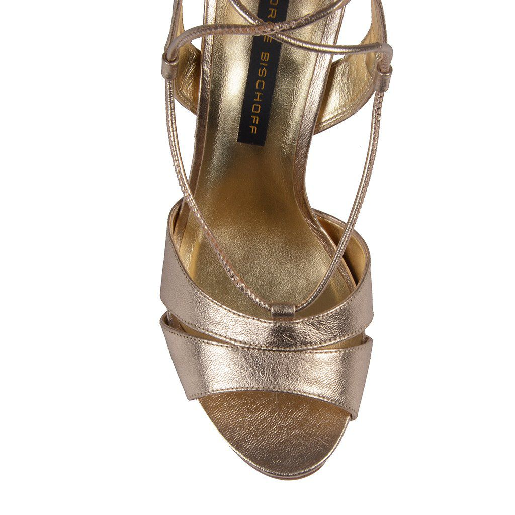 Sandália Ouro Metalizado Jorge Bischoff V20