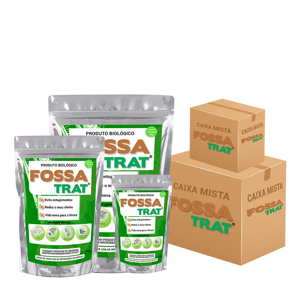 Fossa Trat - Caixa Mista 25 unidades | 10unid 100g + 10unid 250g + 5unid 500g