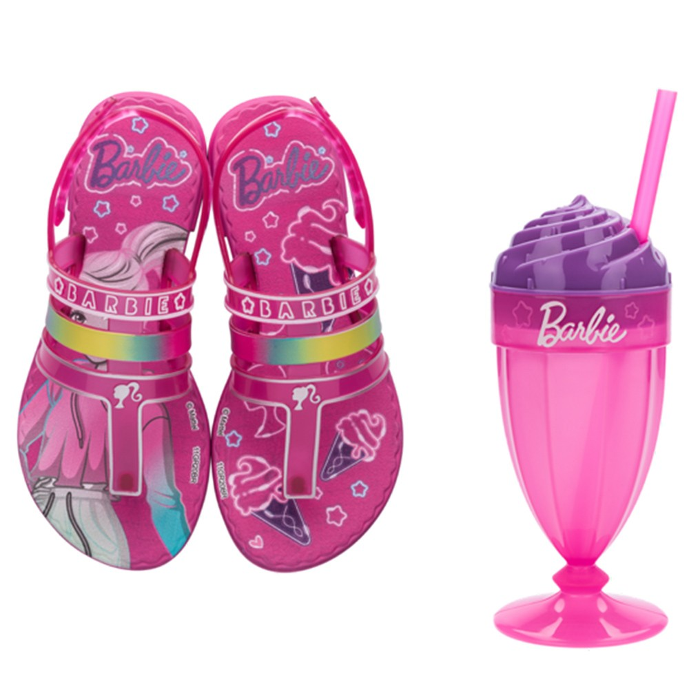 Sandália Infantil Barbie Milkshake REF: 22460 Com brinde