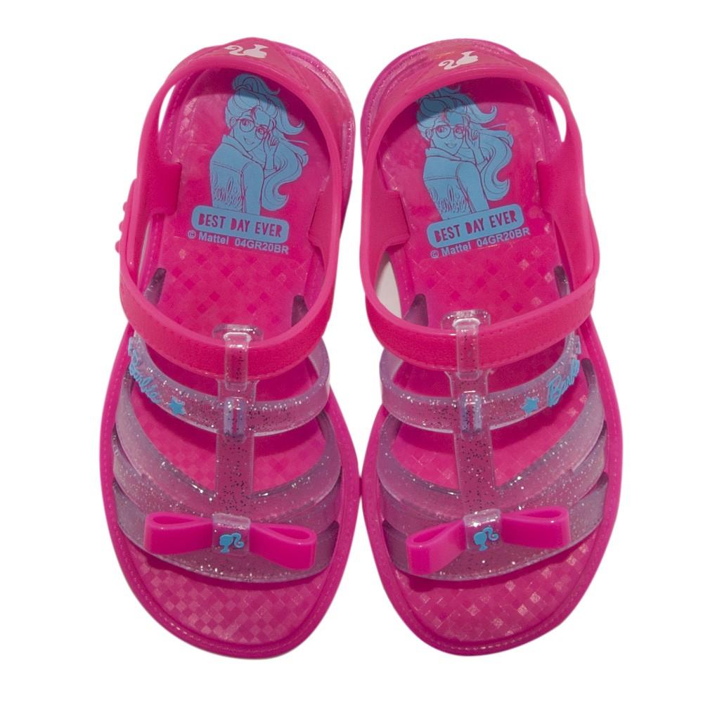 Sandália Infantil Personalidade Barbie Pink Car Com Brinde REF: 22166