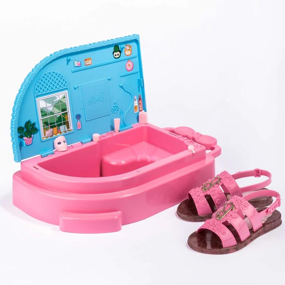 Sandália Infantil Personalidade Barbie Spa Com Brinde Ref: 22485