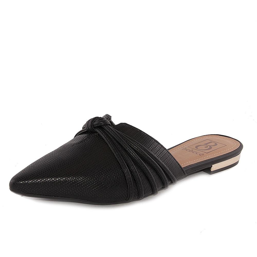 Sapato Feminino Bebecê Mule REF: P2016360 NAPA LEZARD-NAPA