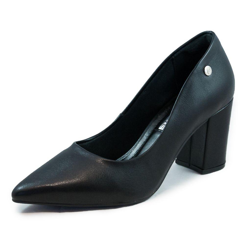 Sapato Feminino Via Marte Scarpin Salto Médio REF: 19-7201 Napa