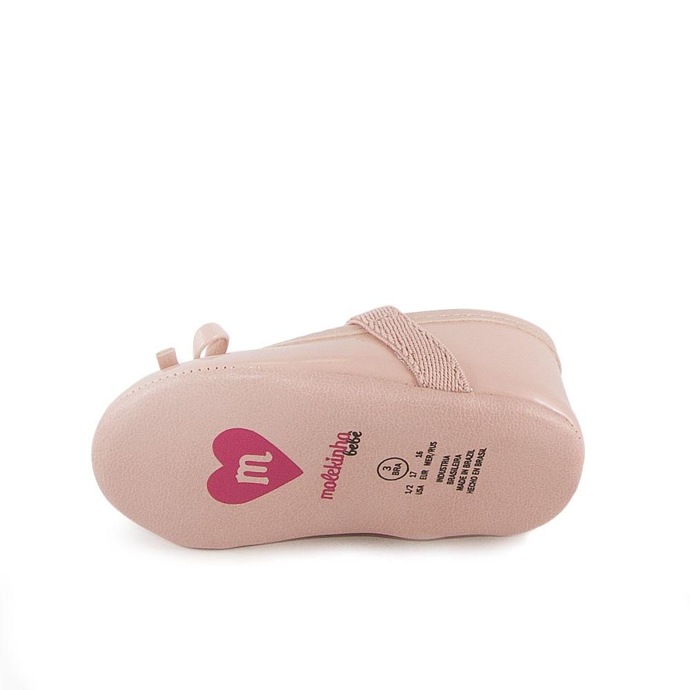 Sapatilha Bebê Molekinha Recém Nascido REF: 2901533 VERNIZ