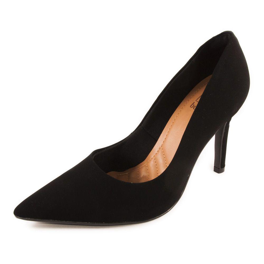 Sapato Feminino Bebecê Scarpin Salto Alto REF: 9422102 NOBUCK