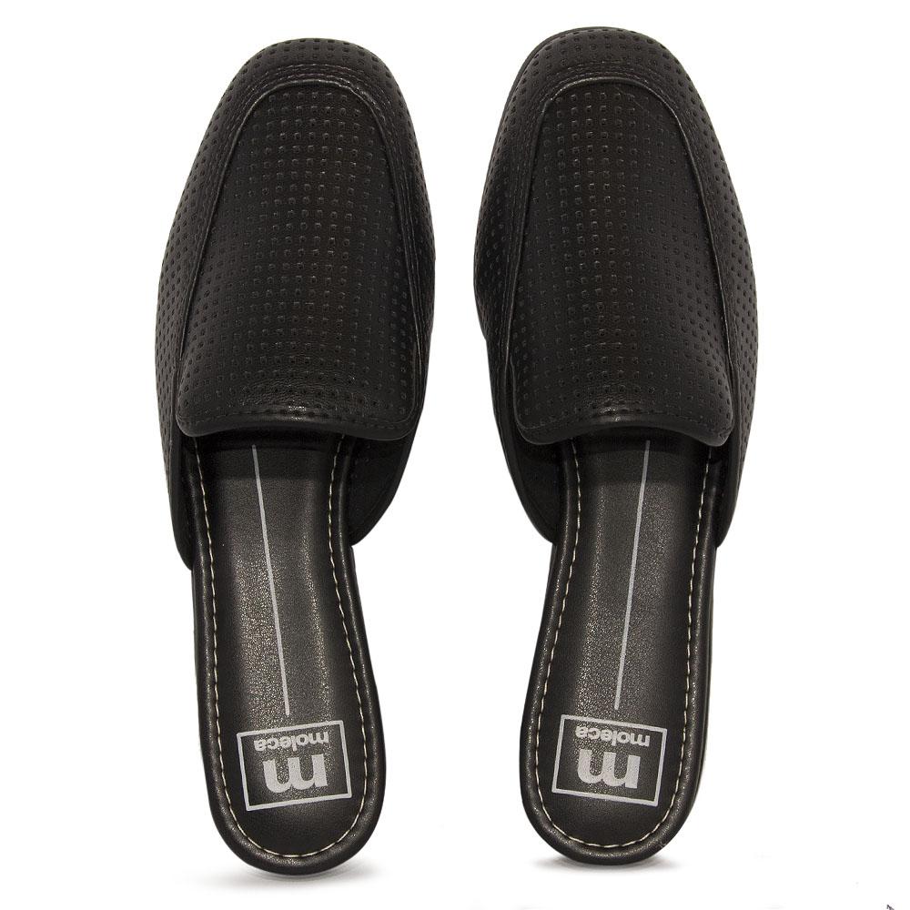 Sapato Feminino Moleca Mule REF: 5722101 NAPA MICROPERFUROS