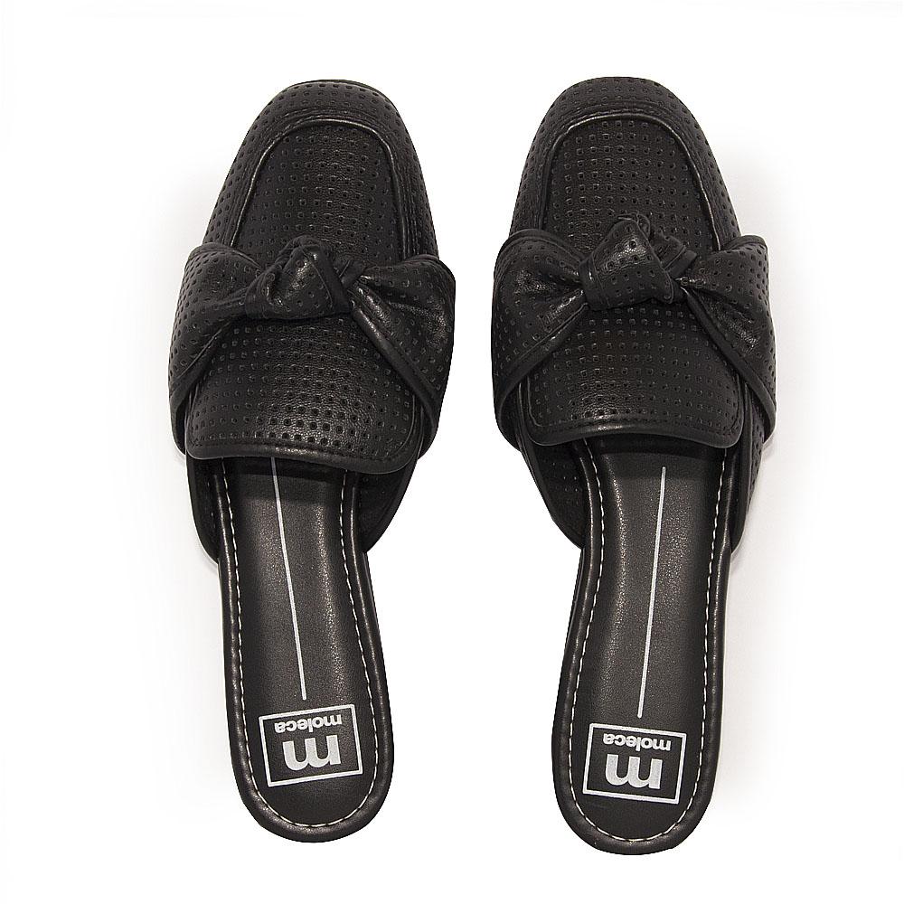 Sapato Feminino Moleca Mule REF: 5722103 NAPA MICROPERFUROS