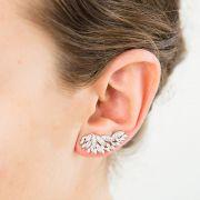 Brincos Prata Ear Cuff Largo VD 143