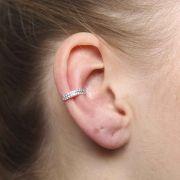 Piercing de Orelha com Duas Fileiras de Pedras VD 52