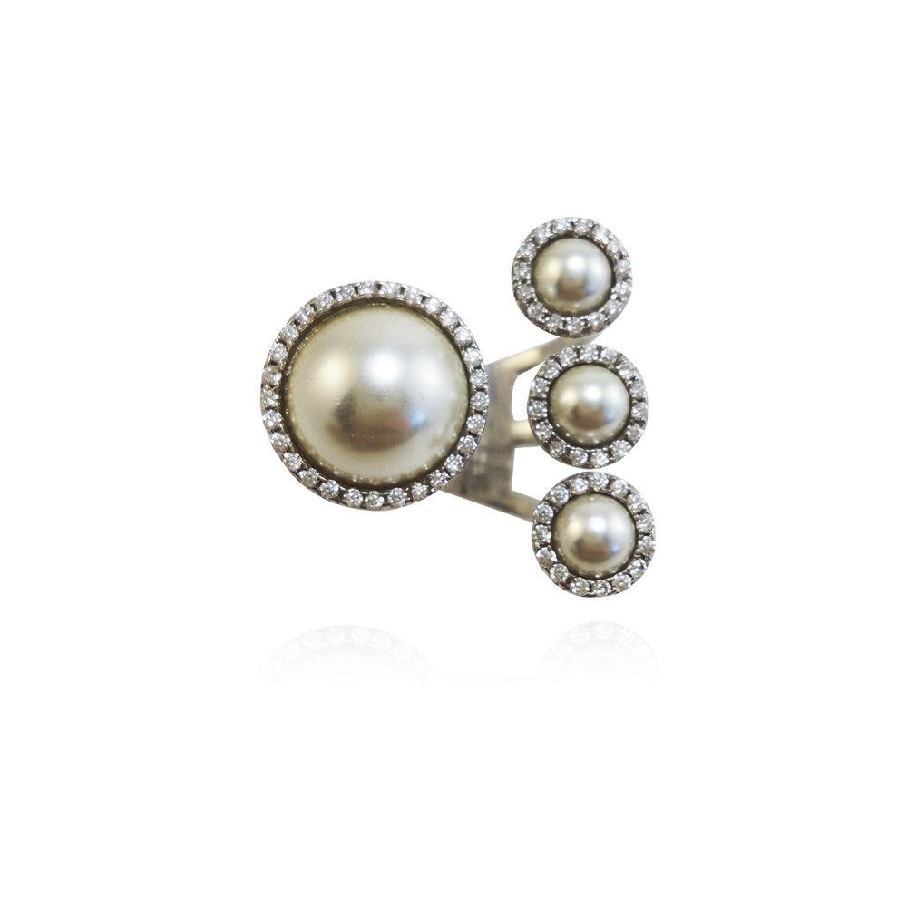 Anel Charming Pearls em Prata VD 267