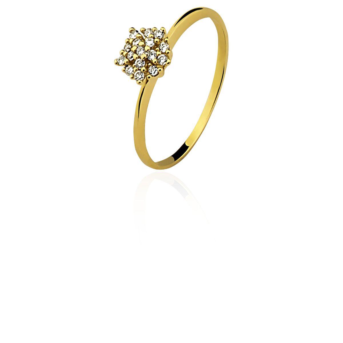 Anel Ouro 18k Amarelo Clássico Chuveirinho L 19.6