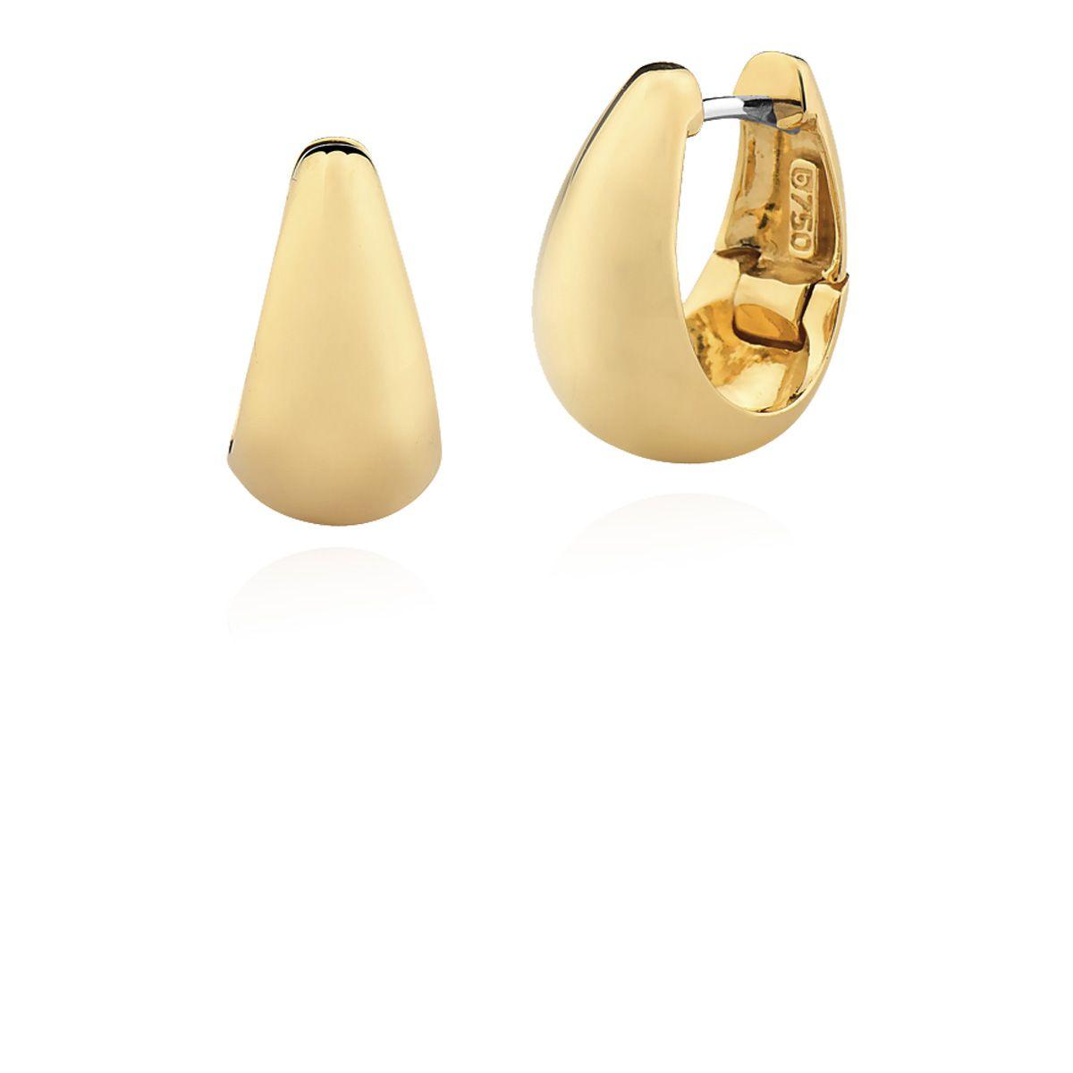Brincos Ouro Amarelo 18k Argolinhas Foscas L 22.7