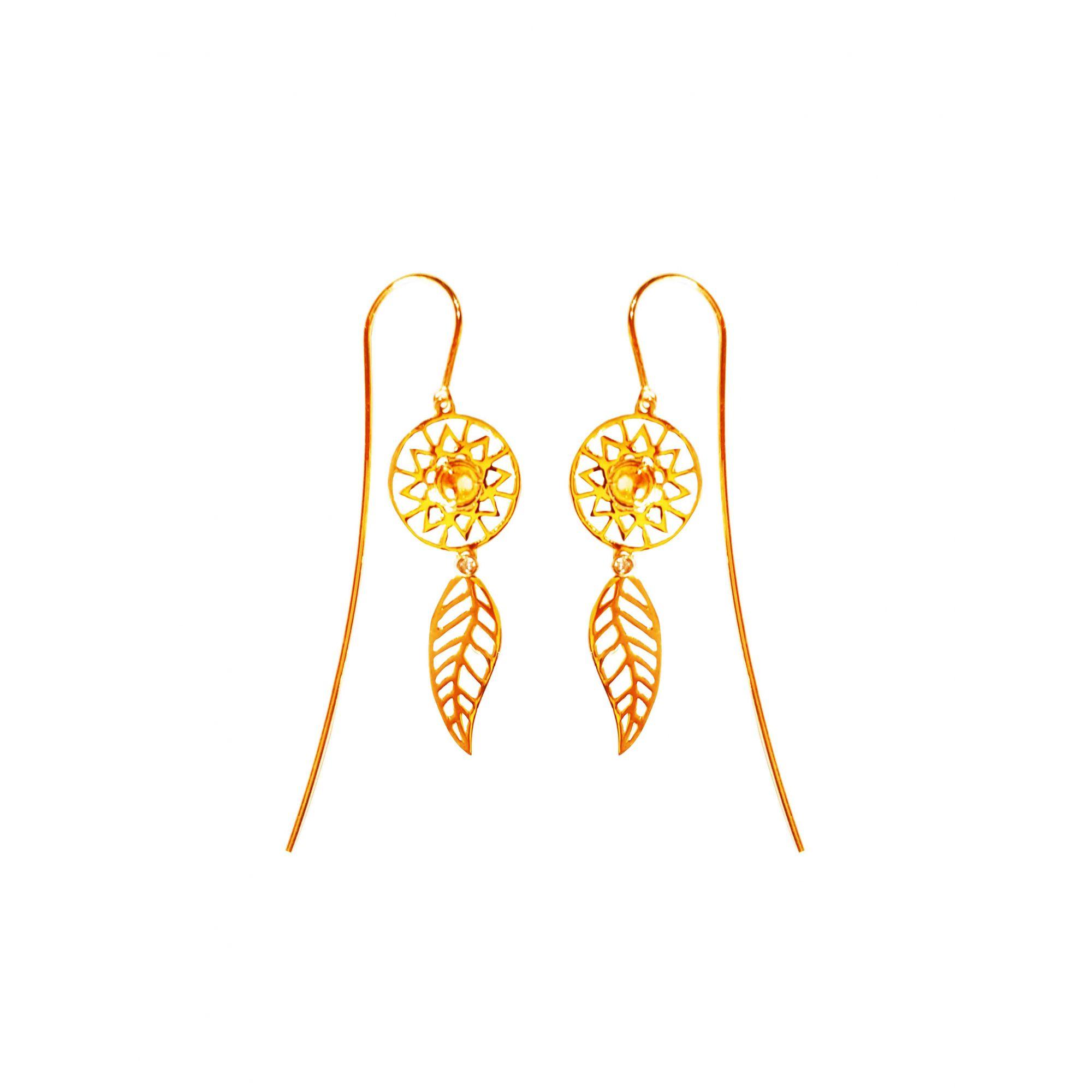 Brincos Ouro Amarelo 18k Filtro dos Sonhos L 16.6