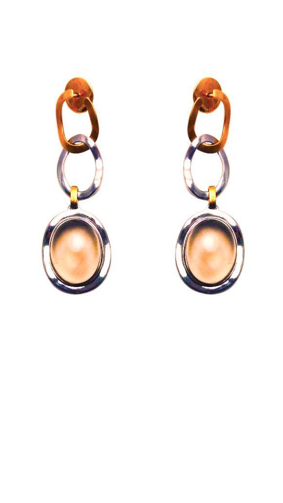 Brincos Prata e Ouro 18k Luxury Rims VD 1181