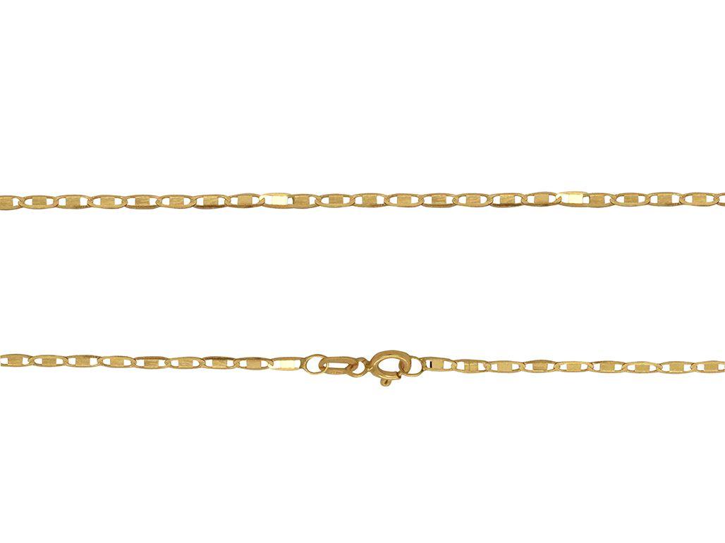 Corrente Ouro 18K Amarelo Piastrine 60cm L 9.9