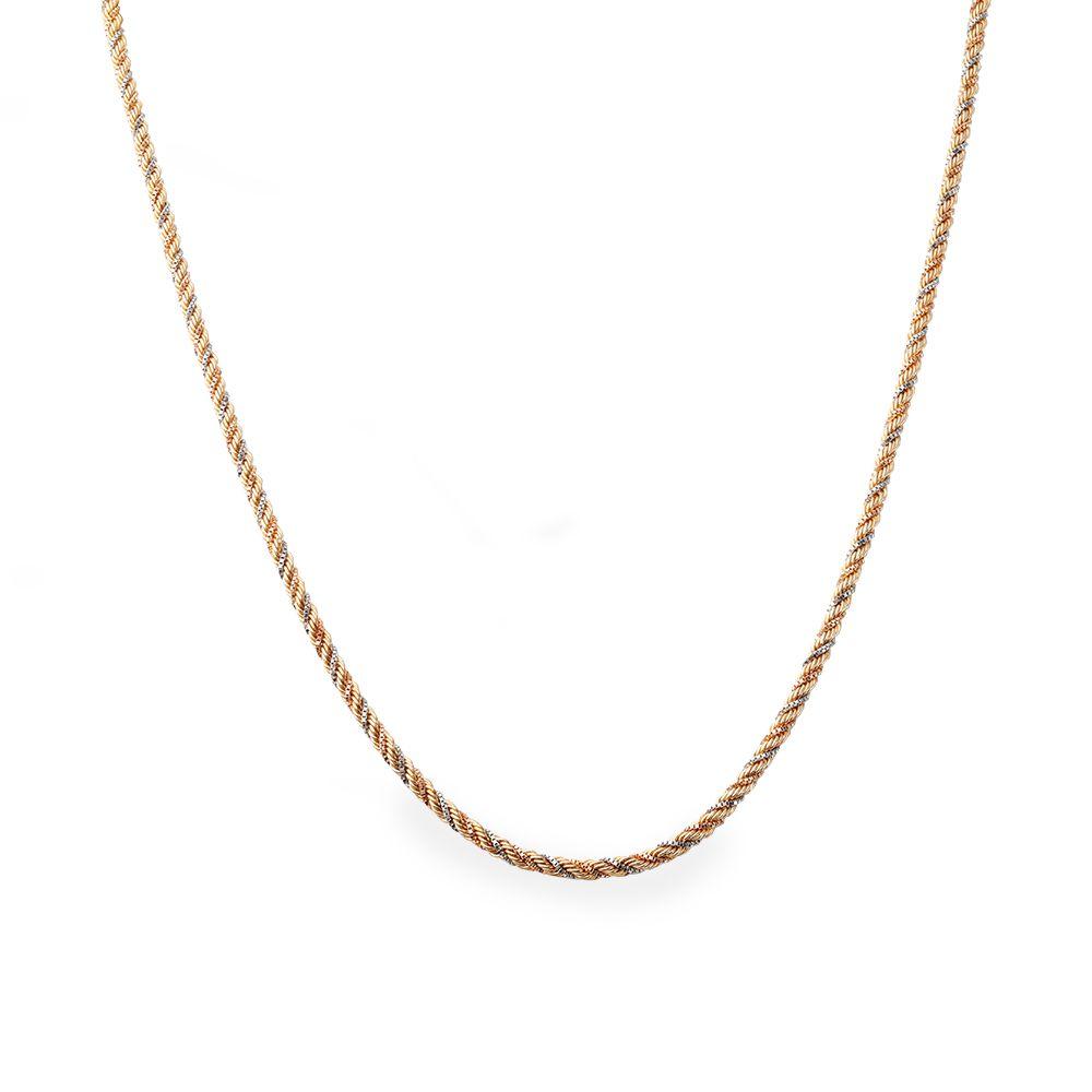 Corrente Ouro 18k Cordão Italiano de Três Cores L 24.8