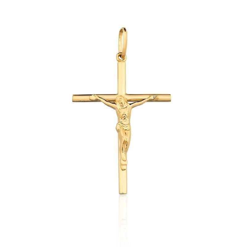Pingente Crucifixo Ouro Amarelo 18k L 10.8