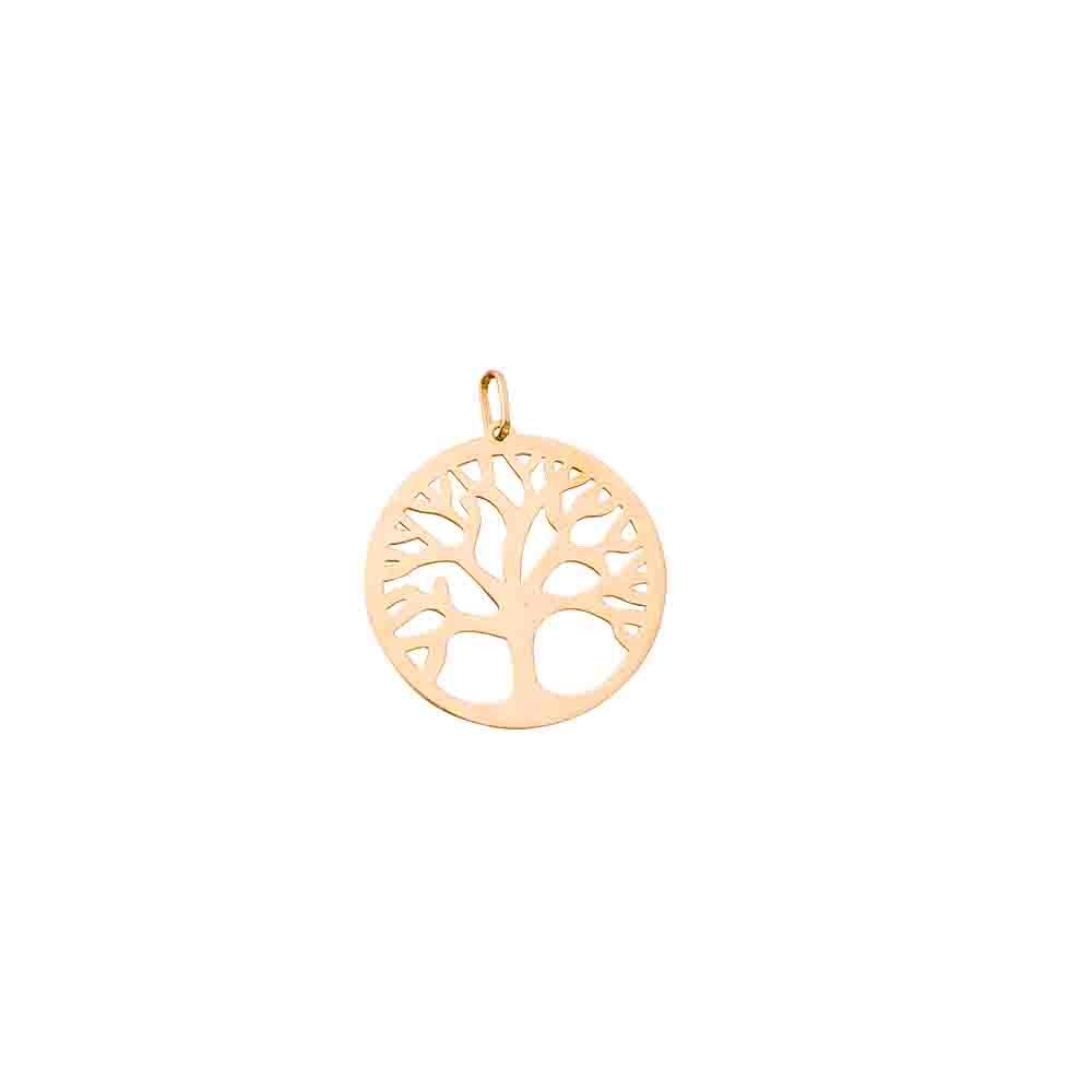 Pingente Ouro 18k Árvore da Vida Vazado L 6.4