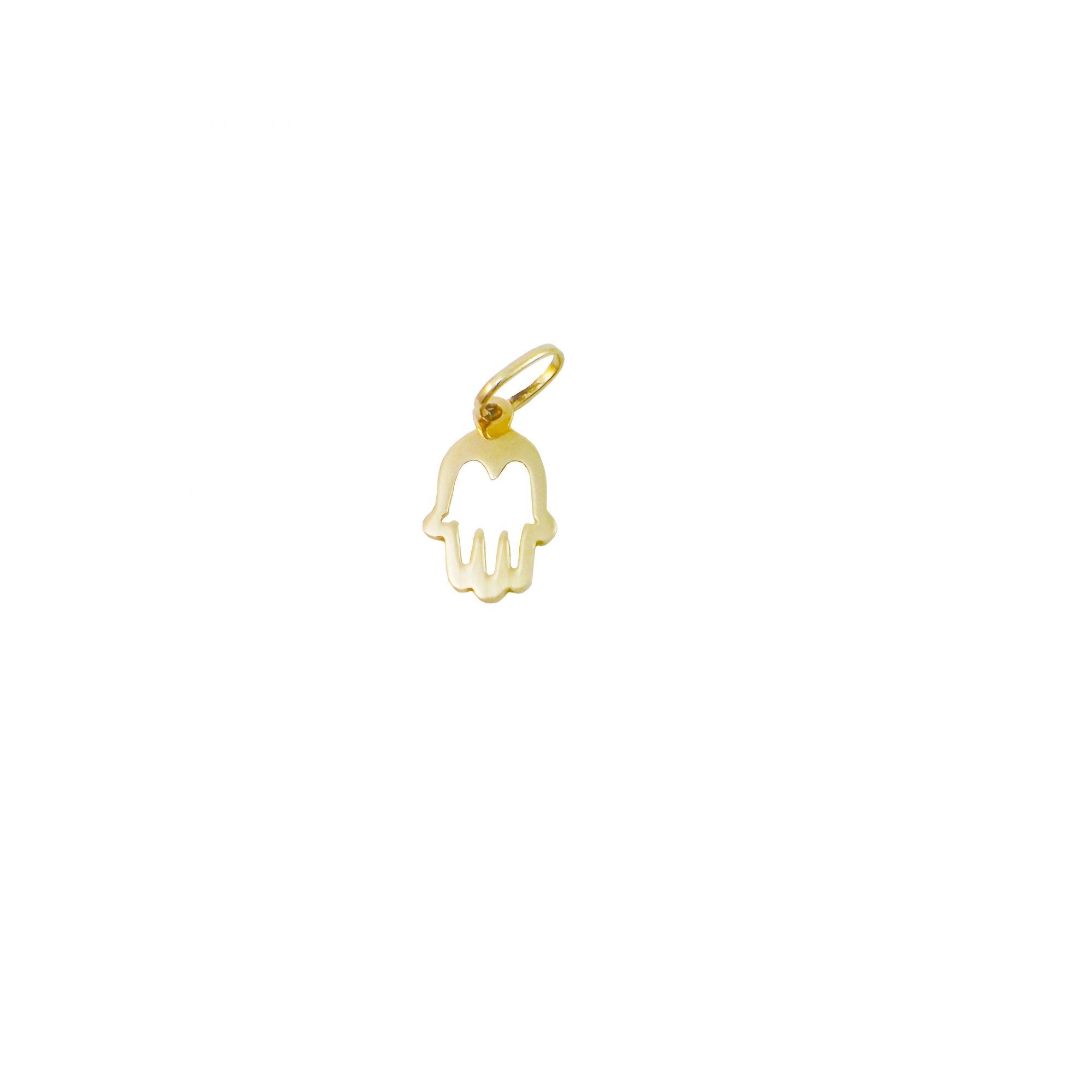 Pingente Ouro 18k Mão Mística Vazada L 3.8