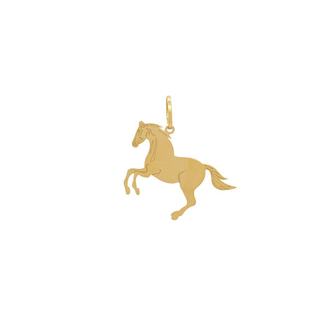 Pingente Ouro Chapa Cavalo L 3