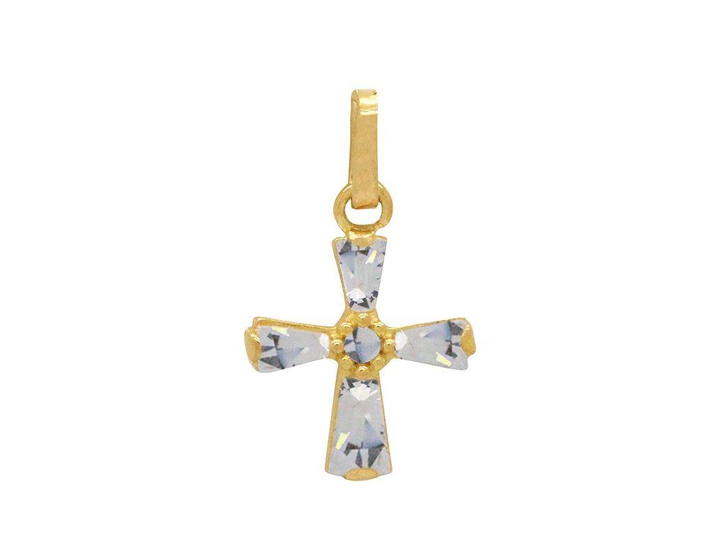 Pingente Ouro Cruz com Zircônias L 2.5