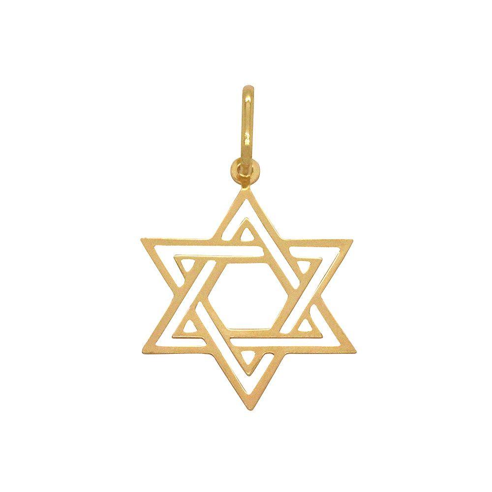 Pingente Ouro Estrela de Davi Grande L 7.4