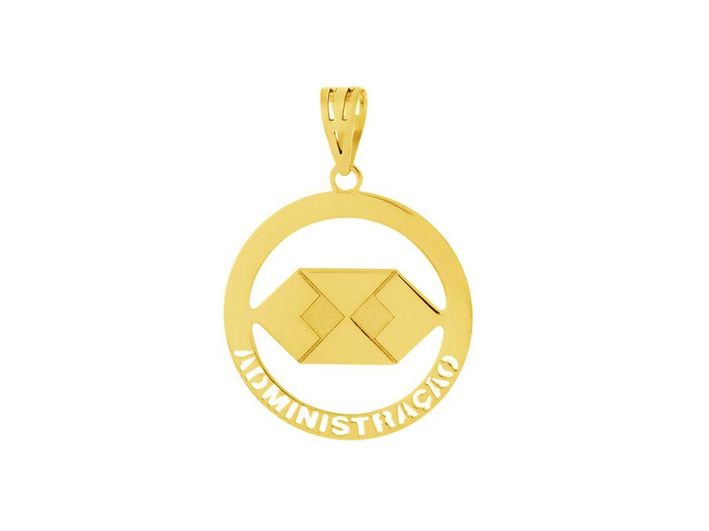Pingente Ouro Formatura Administração L 5.65