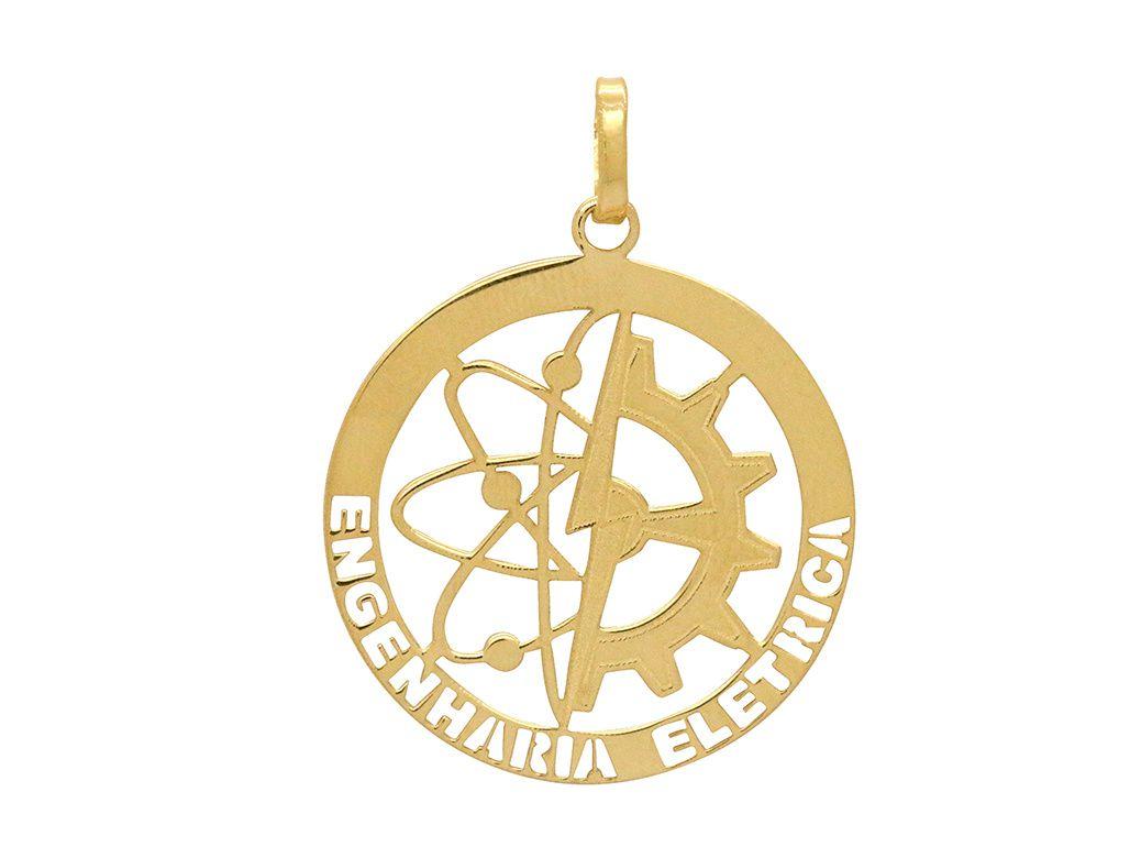Pingente Ouro Formatura Engenharia Elétrica L 5.7