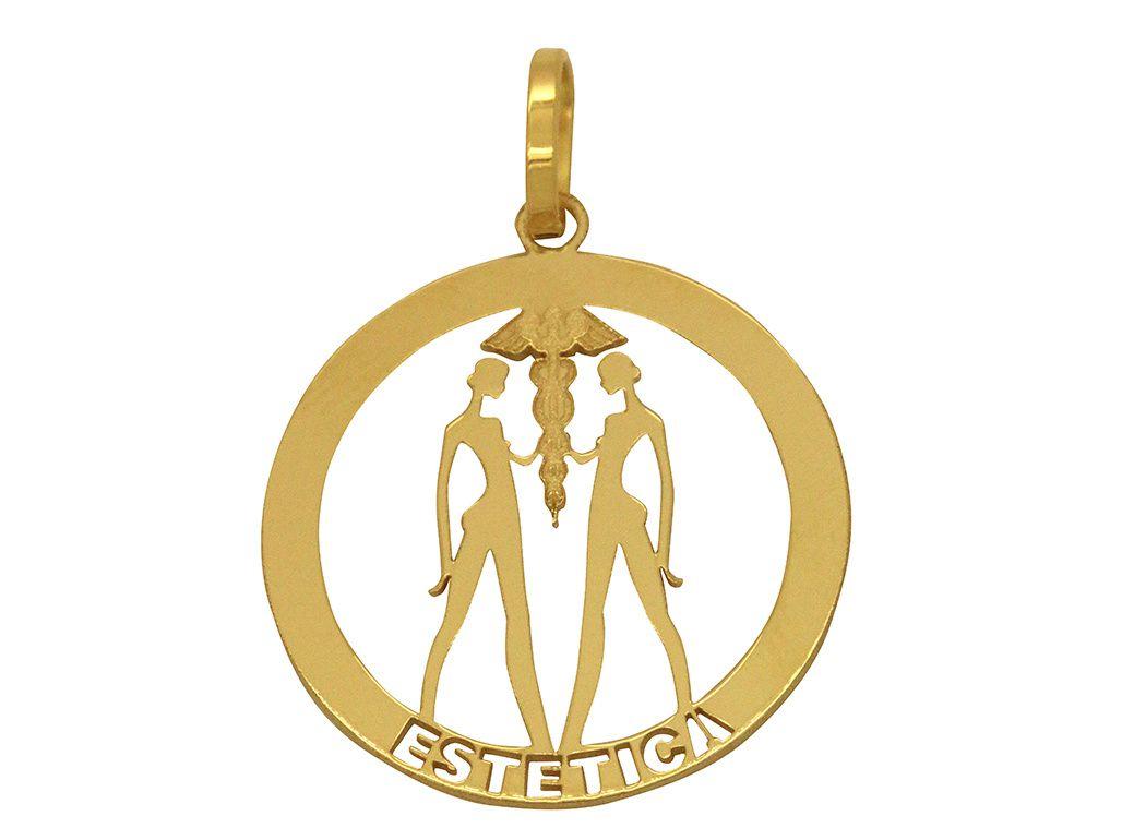 Pingente Ouro Formatura Estética L 5.2