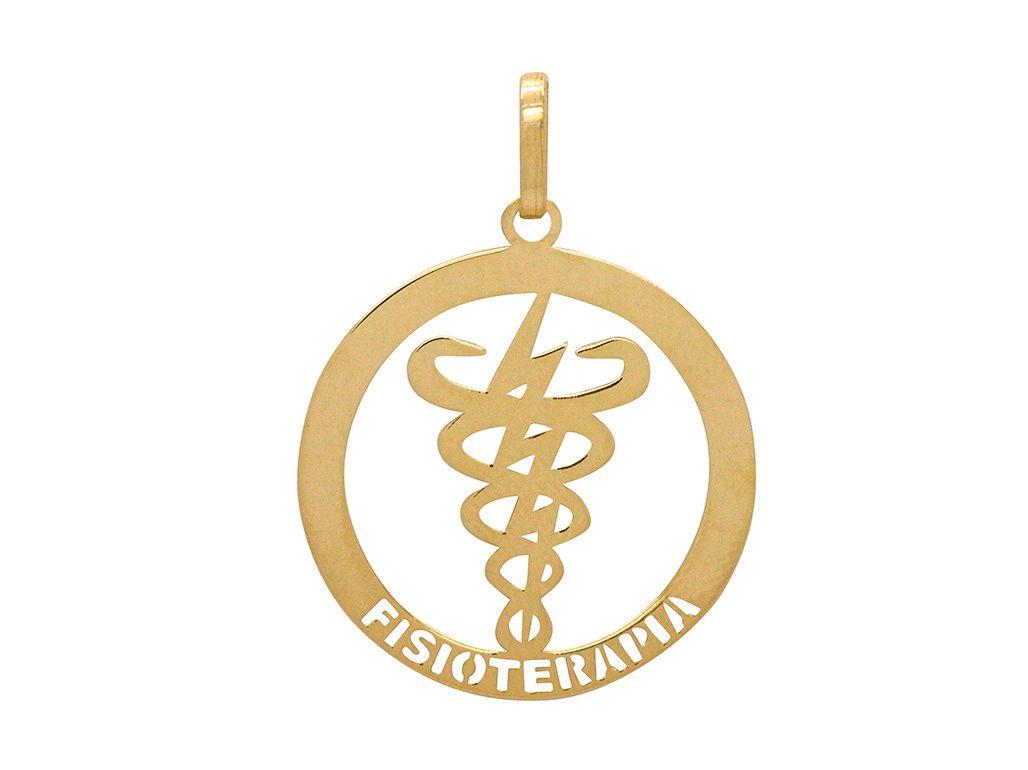 Pingente Ouro Formatura Fisioterapia L 7.77