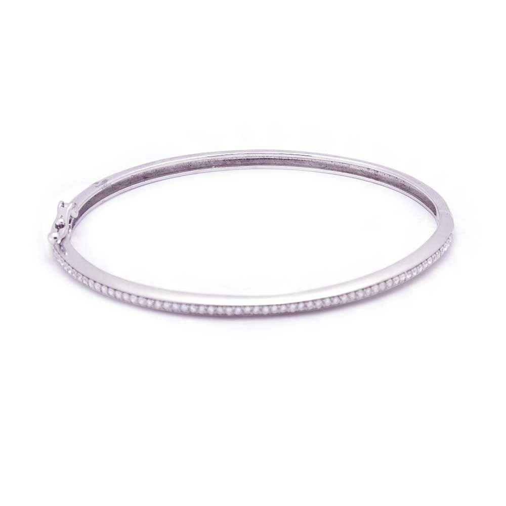 Pulseira Bracelete Prata Fileira Cravejada VD 199
