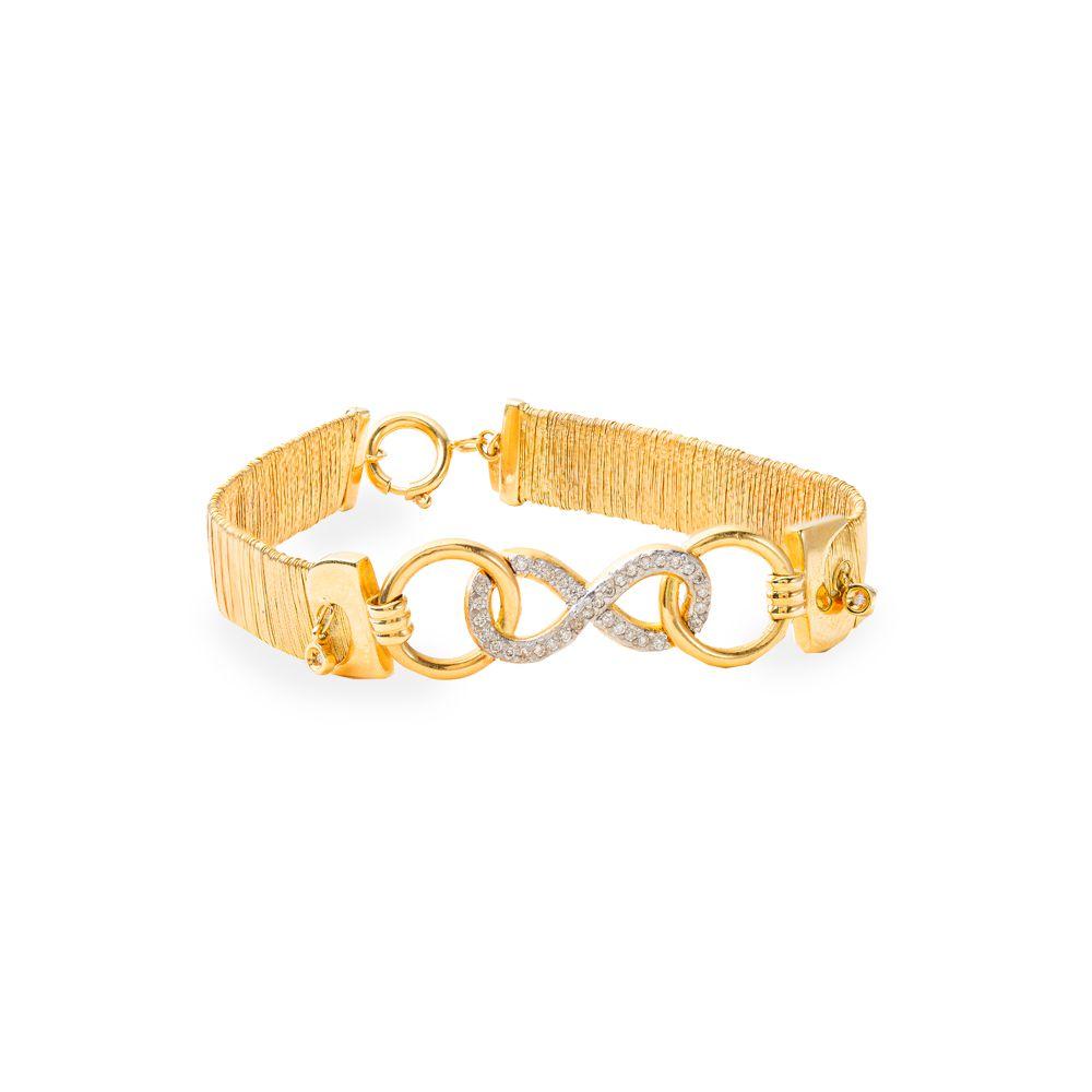 Pulseira Ouro 18K Infinito Diamante L 87.8