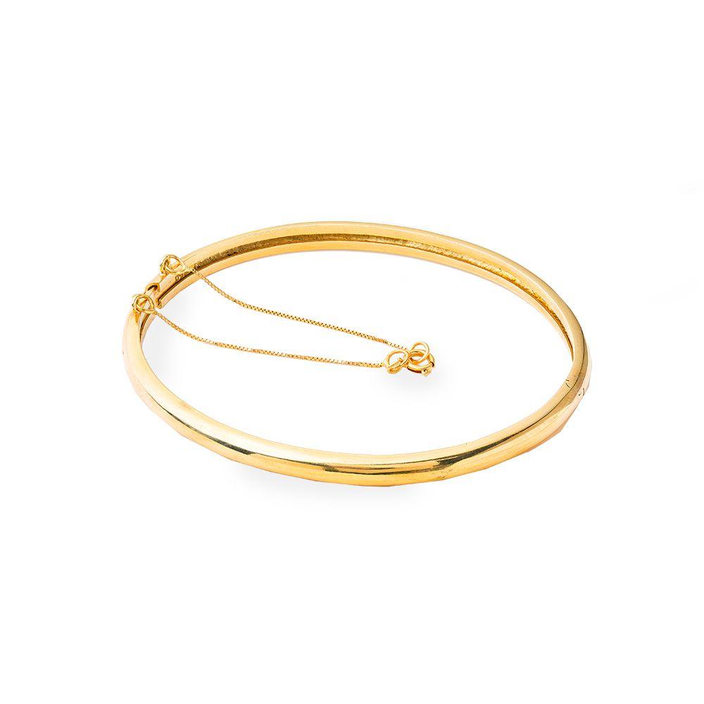 Pulseira Ouro Amarelo 18k Bracelet L 55 DC