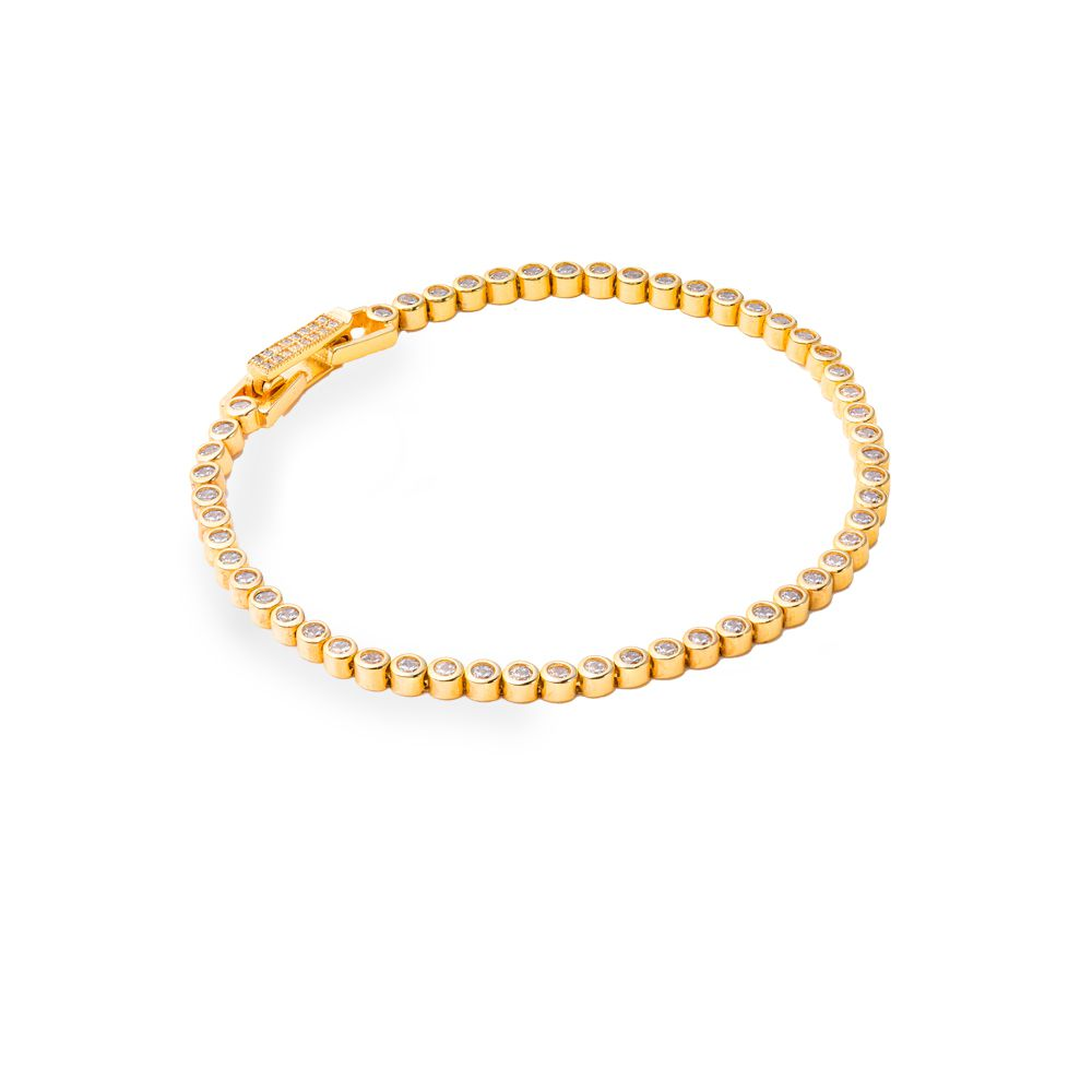 Pulseira Prata Banho de Ouro Riviera VD 147