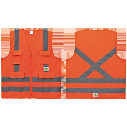 COLETE DE PROTEÇÃO REFLETIVO SUPER SAFETY  HI-VIS, 4 BOLSOS