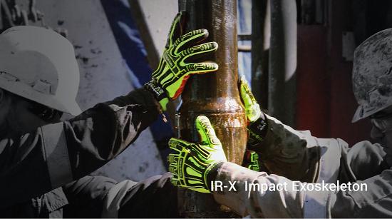 Luva HexArmor Rig Lizard 2021, resistência contra impactos CA 42913
