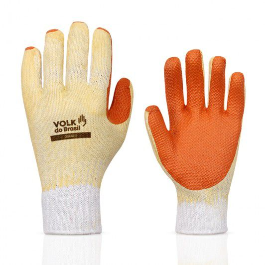 Luva Orange, Látex Vulcanizada, Volk,CA 21367