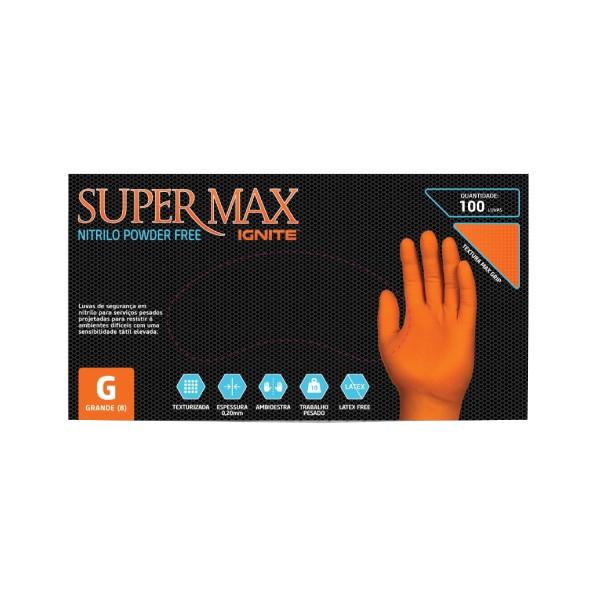 Luva SuperMax Proteção Química e Mecânica IGNITE ORANGE, CA 41843