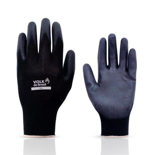 Luva Tátil Black Multitato Fibras sintéticas com Banho de PU, Volk CA 30916
