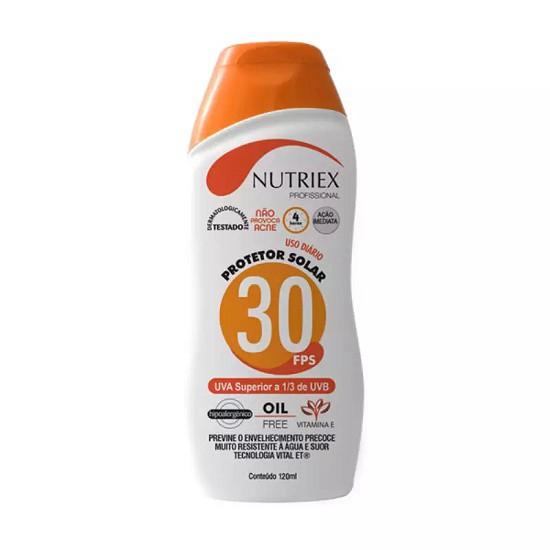 Protetor Solar FPS 30  1/3 NUTRIEX 120ML UVA